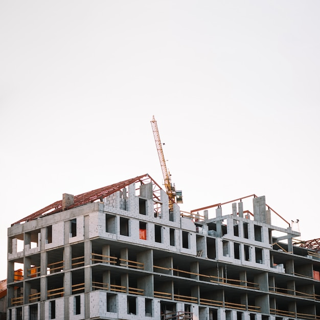 View of construction site in progress Premium Photo