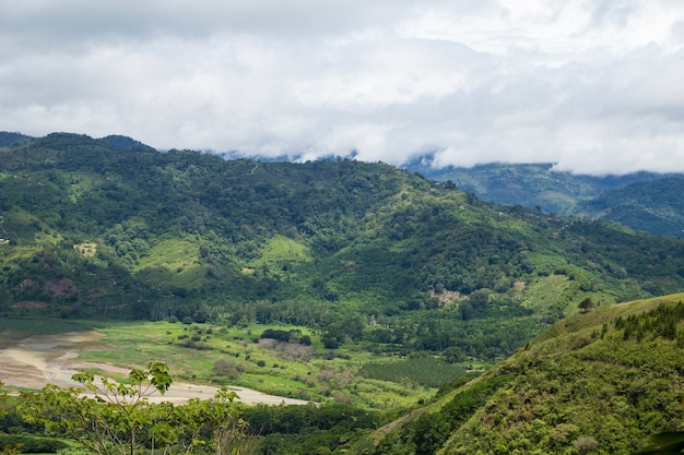 View of the costa rican countryside Free Photo