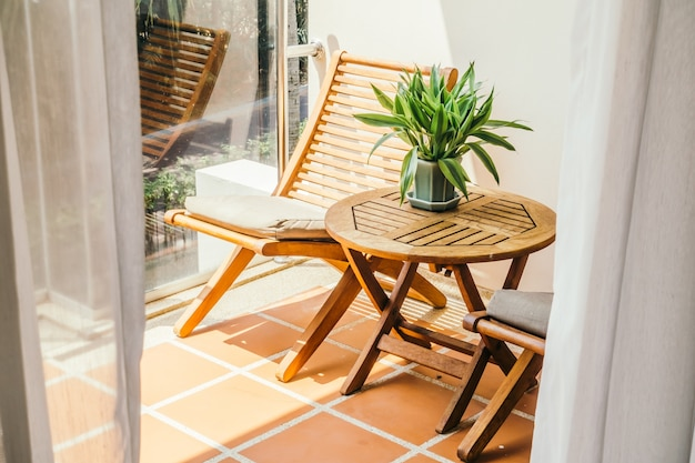 View decoration chairs terrace house Free Photo