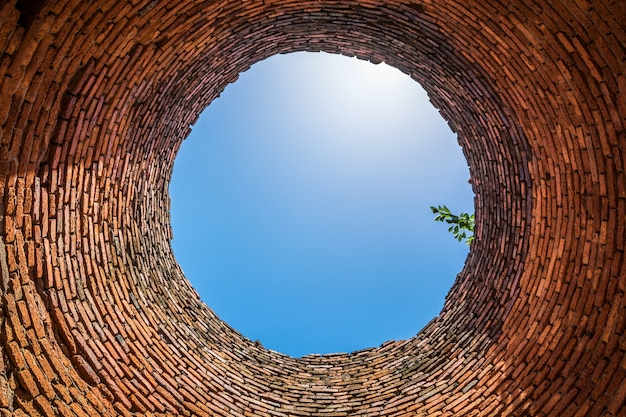 View from the bottom of the well. Free Photo