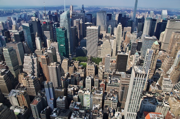 The view from empire state building in new york, united states Premium Photo