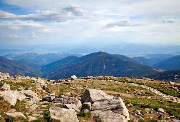 View from mountain chopok in low tatras Premium Photo