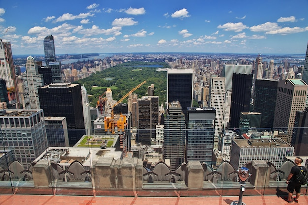 The view from rockefeller center in new york city, united states Premium Photo
