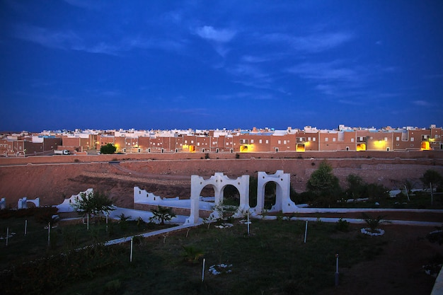 The view on ghardaia city in sahara desert, algeria Premium Photo