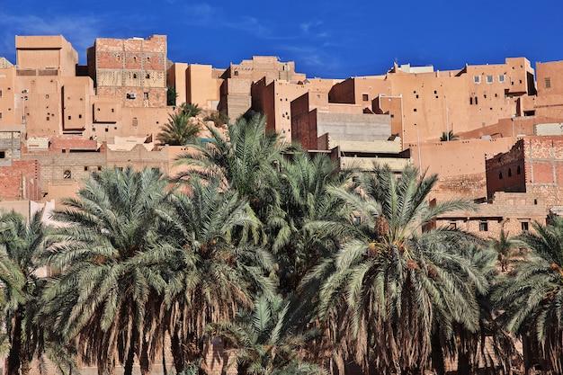 View on ghardaia city in sahara desert, algeria Premium Photo