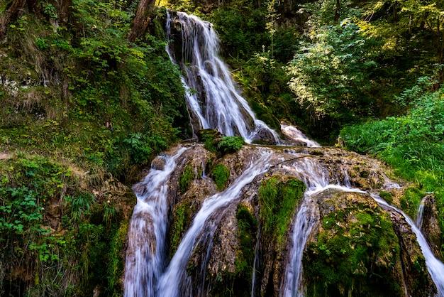 View at gostilje waterfall at zlatibor mountain in serbia Premium Photo
