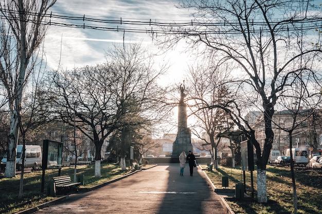 View of grigore vieru boulevard. Premium Photo