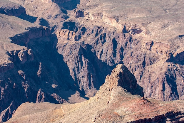 View into the grand canyon from the west rim Free Photo