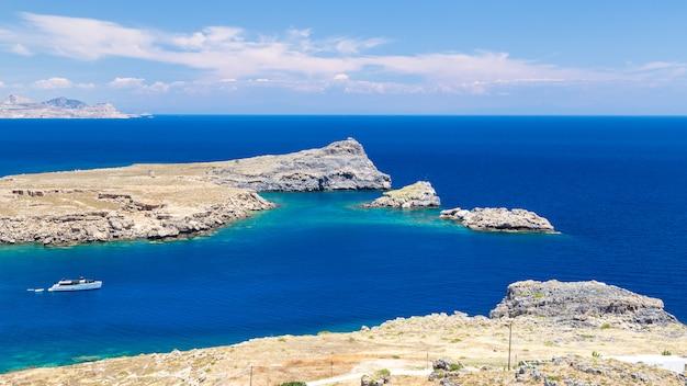 View of lindos bay, rhodes Premium Photo