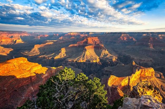 View of morning light at grand canyon, arizona, usa Premium Photo