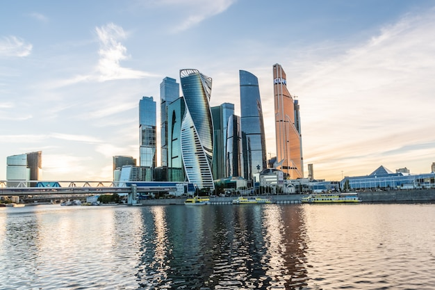A view of the moscow international business center - moscow-city Premium Photo