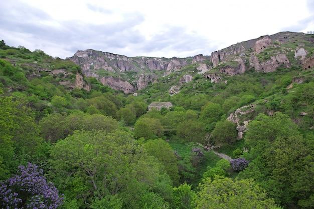 The view on the mountains of the caucasus, armenia Premium Photo