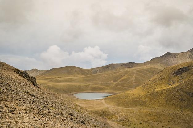 View of the nevado de toluca, inactive volcano of mexico. Premium Photo