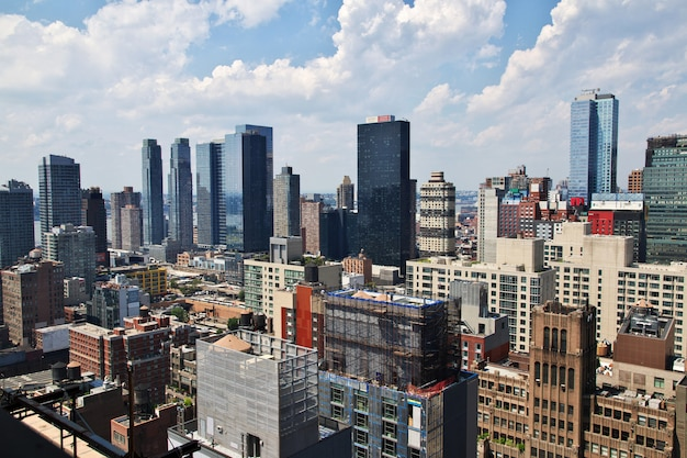 The view on new york city of united states Premium Photo