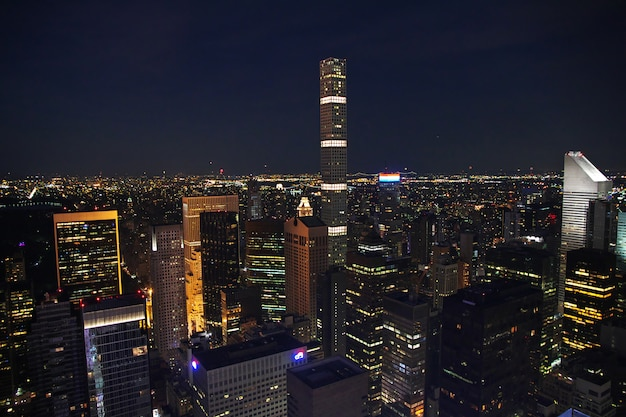 The view on new york at night, united states Premium Photo