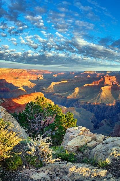アメリカ合衆国、日の出の有名なグランドキャニオンの眺め Premium写真