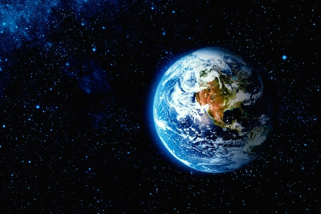 Вид на землю с луны Premium Фотографии