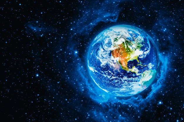 Вид на землю с луны. Premium Фотографии