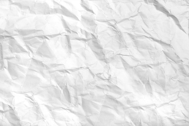 View of white crumpled paper Free Photo