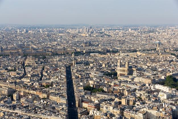 View of paris from maine montparnasse tower Premium Photo