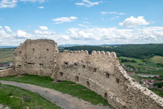 View of rupea fortress in transylvania, romania Premium Photo