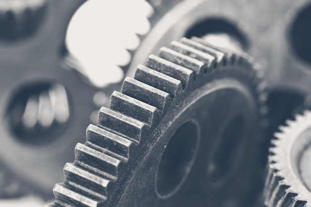 View of stack of gears Premium Photo