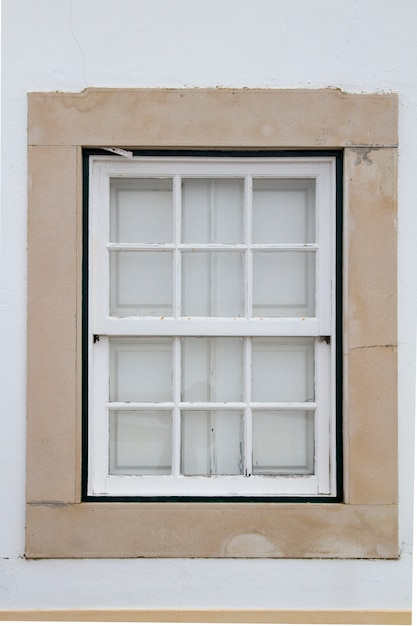 View of a typical european window of a building in the city. Premium Photo