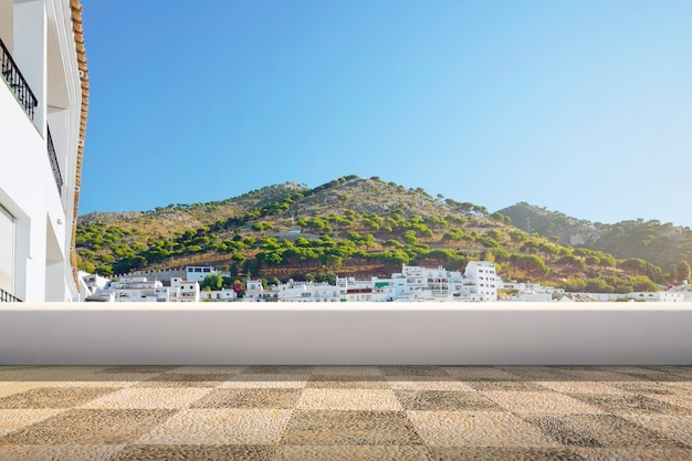 View of villages and mountains valley Premium Photo