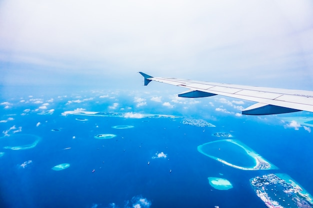 View water airliner flying sea Free Photo