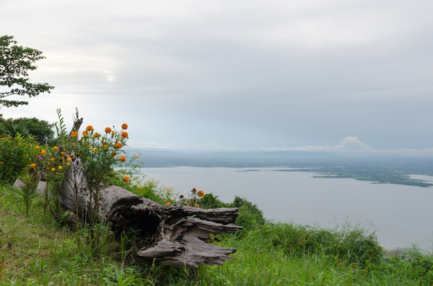 Viewpoint of view sunset,attractions in thailand Premium Photo