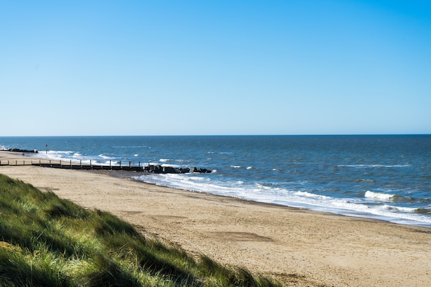 Views from the sand dunes on the north norfolk coast Premium Photo