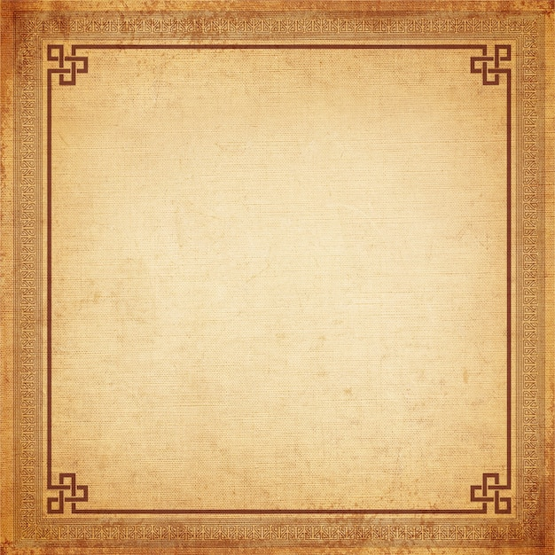 Vintage Background Chinese Frame Old Canvas Texture Photo Premium