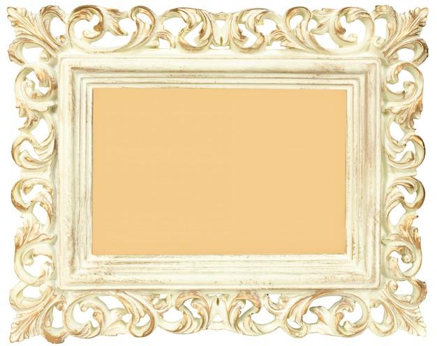 Vintage blank photo frame isolated Premium Photo