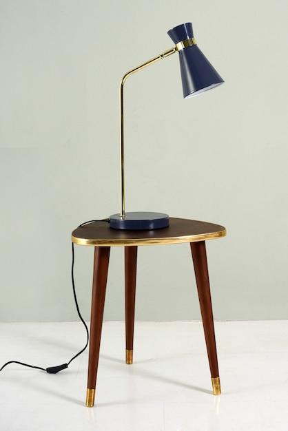 Vintage blue lamp Premium Photo