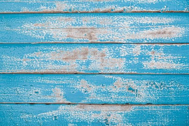 Vintage Blue Wood Texture Background Premium Photo