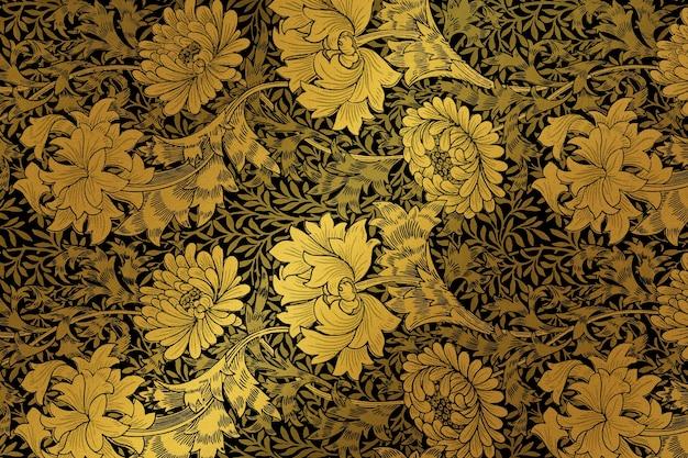 Vintage botanical pattern Free Photo