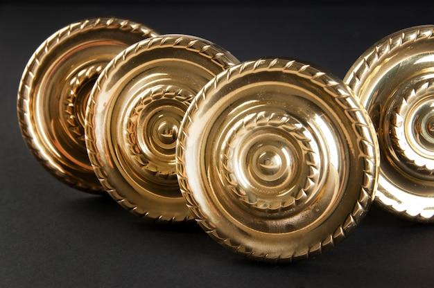 Vintage brass door handles Premium Photo