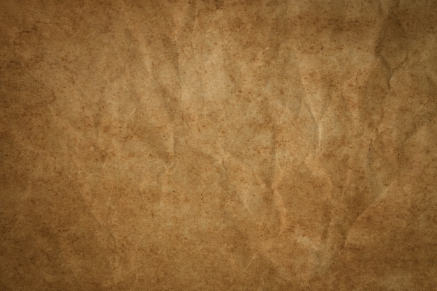 vintage brown paper with wrinkles abstract old paper