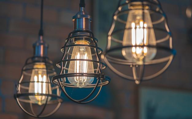 Vintage ceiling cage lighting Premium Photo