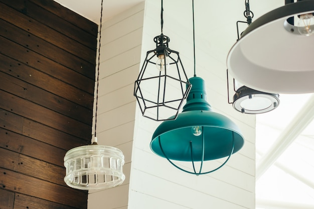 Vintage ceiling light lamp Free Photo