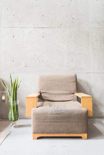 Vintage chair luxury vase wall Free Photo