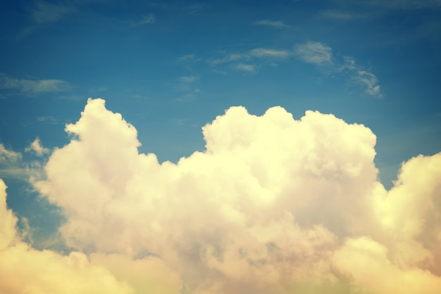 Vintage Cloud With Blue Sky Use For Nature Wallpaper Background And