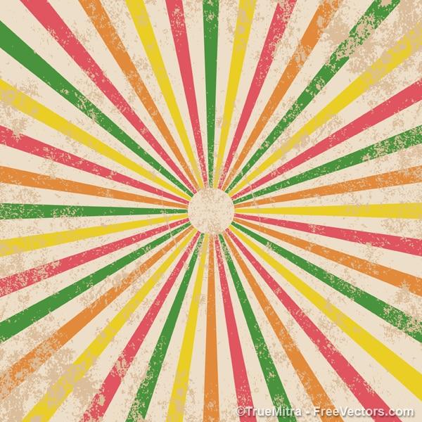 Vintage colored sunbeam texture
