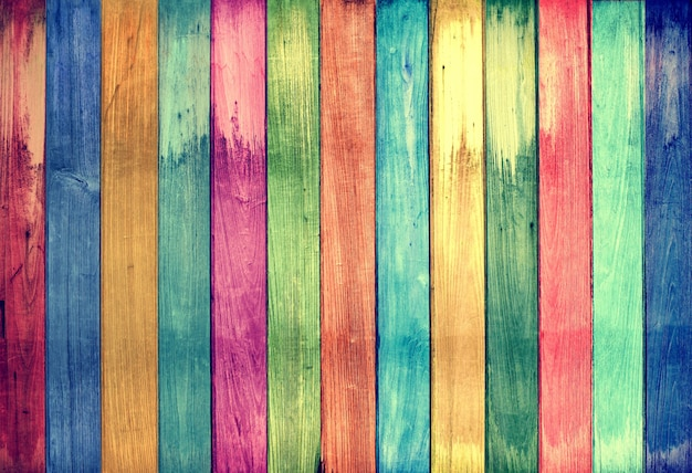 vintage colorful wood background Premium Photo
