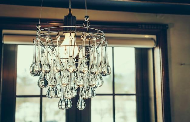 Vintage crystal chandelier ( filtered image processed vintage ef Free Photo