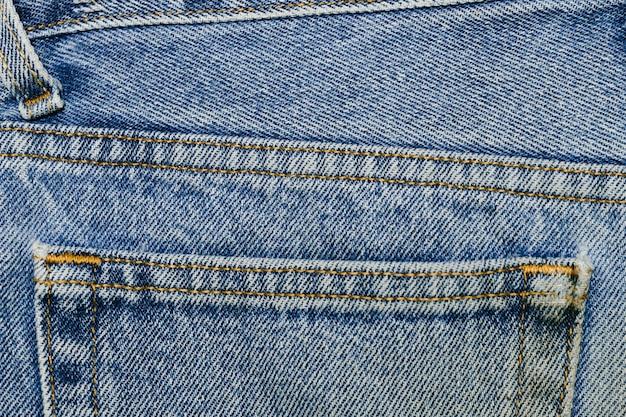Vintage denim pocket close-up Free Photo