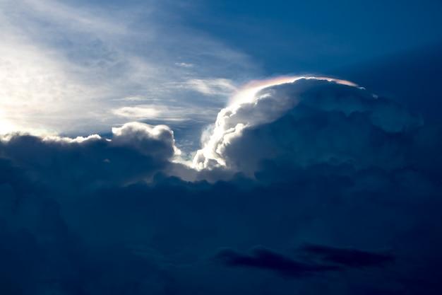 Vintage dynamic cloud and sky texture background Premium Photo
