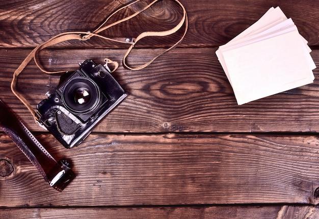 Vintage film camera Premium Photo