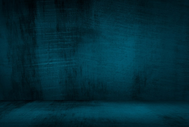 삽화와 빈티지 그런 지 블루 콘크리트 질감 스튜디오 벽 배경. 무료 사진