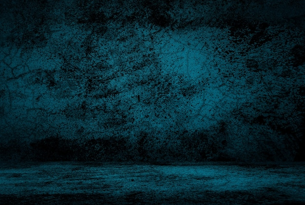 Fondo della parete dello studio di struttura del cemento blu del grunge dell'annata con la scenetta. Foto Gratuite